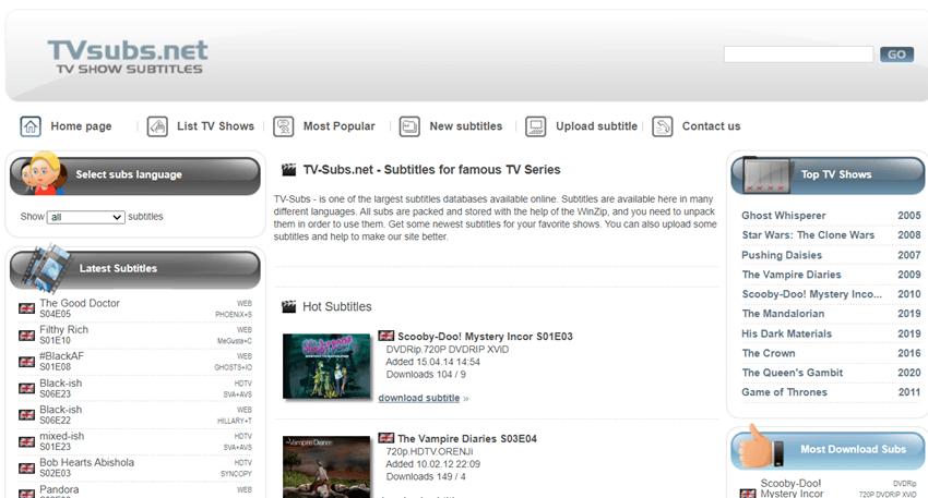 TVsubs-subtitles