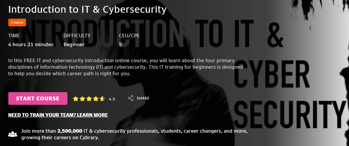 Cybrary Introduction to IT and Cybersecurity-course