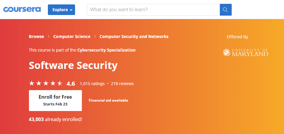 Software Security-course