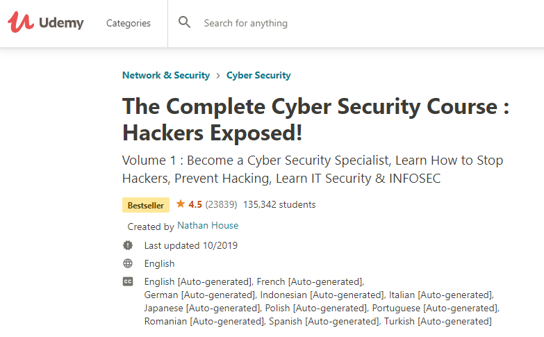 The Complete Cybersecurity Course